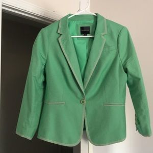 Green one button women's suite jacket